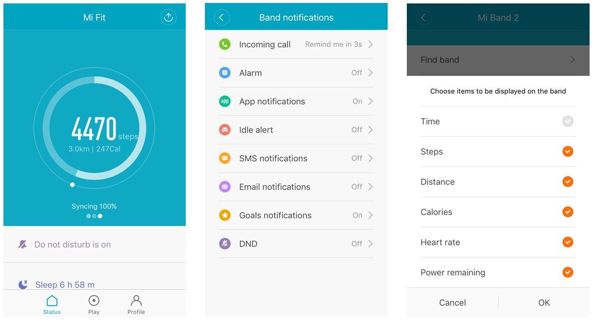 MiFit - Screenshots