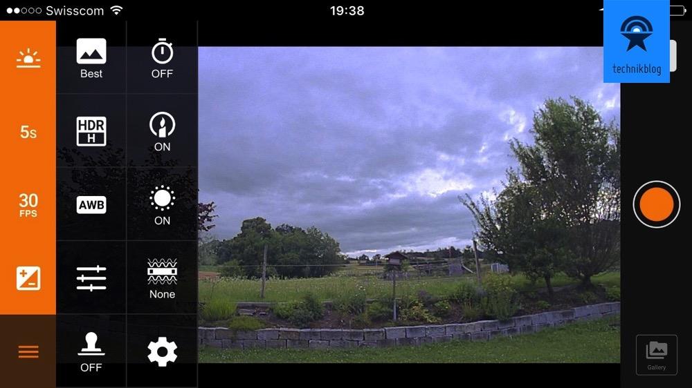 Brinno TLC120 und die iOS App