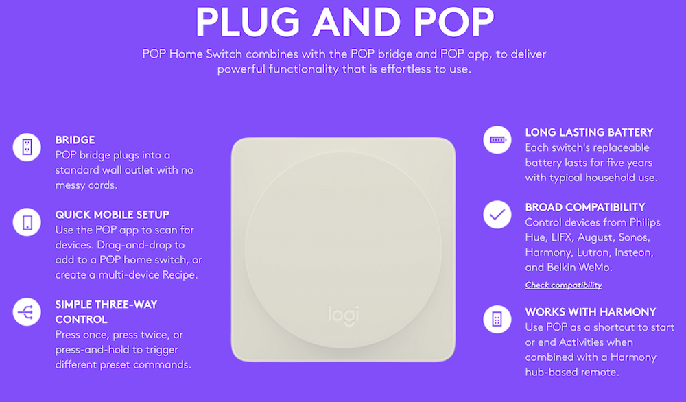 Logitech Pop Home Switch - Plug and Pop