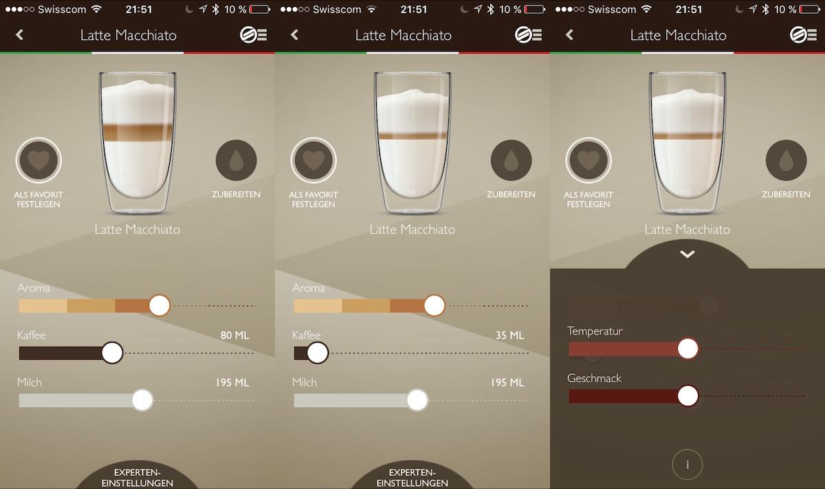 Saeco Avanti App - Latte Macchiato