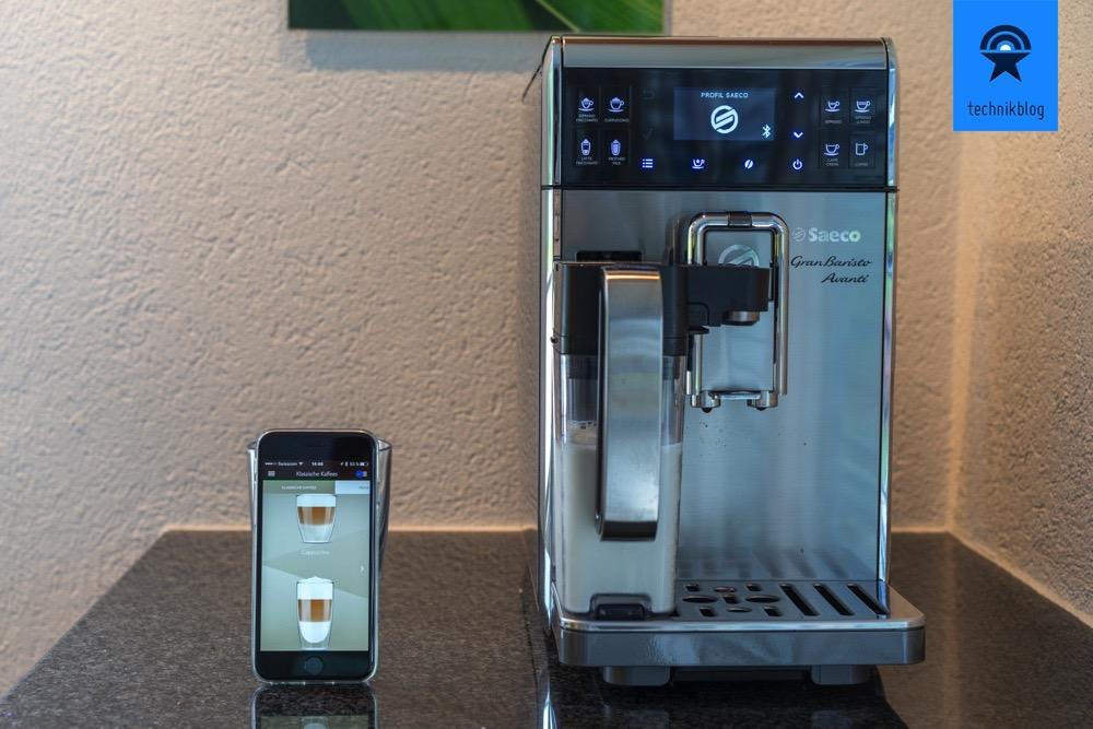 Saeco GranBaristo Avanti - App Steuerung für die Kaffeemaschine