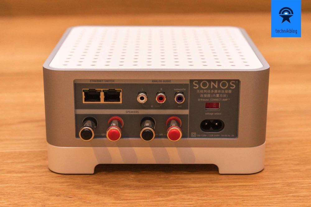 Anschlüsse am Sonos Connect Amp