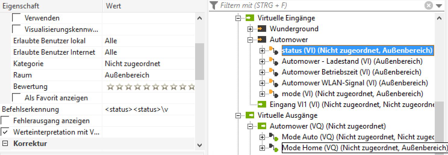 Loxone XML Nodes abfragen