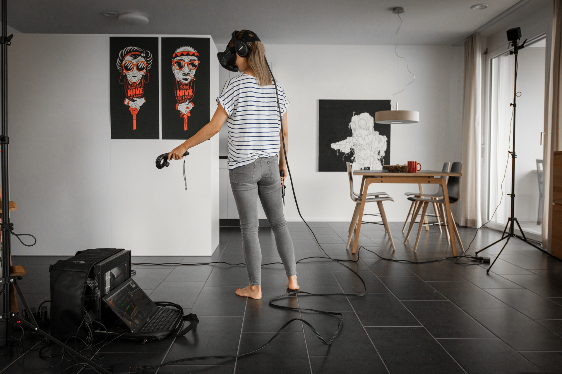 Virtual Reality Setup mit HTC Vive
