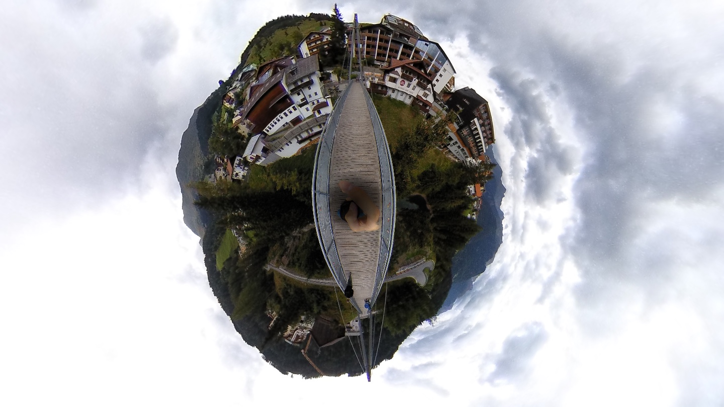 Zeno Brücke in Serfaus - Little Planet