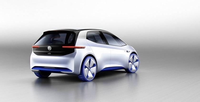 Der VW I.D. sieht von hinten aus, wie ein futuristischer Golf
