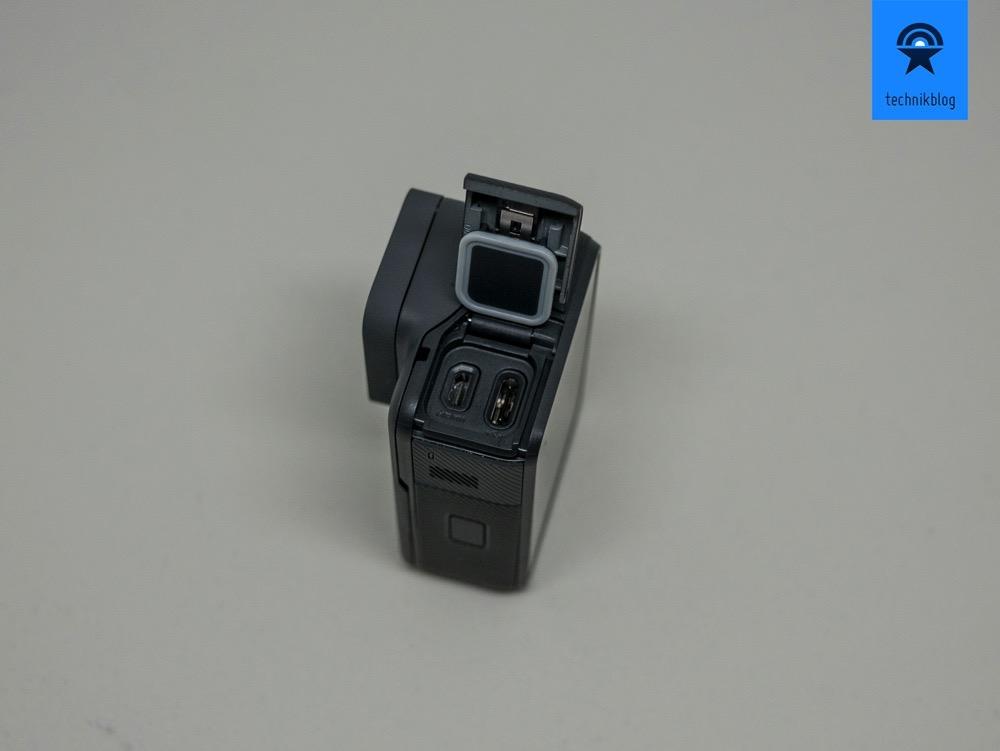 Hero5 Black: USB-C mit wasserdichtem Deckel und Gehäuse