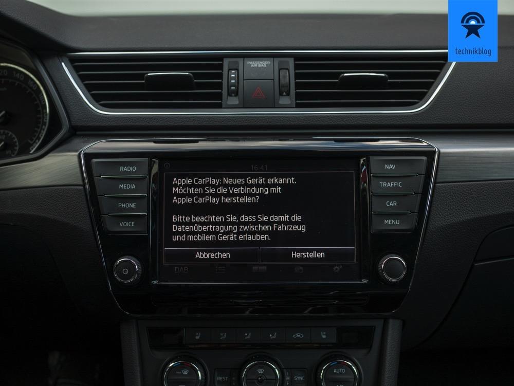 Skoda Superb mit Apple Carplay: Einrichtung