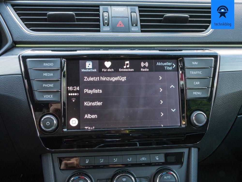 Apple Music mit Carplay im Skoda Superb