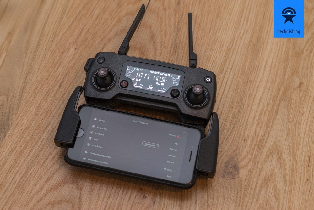DJI Mavic Pro Fernbedienung mit iPhone 7