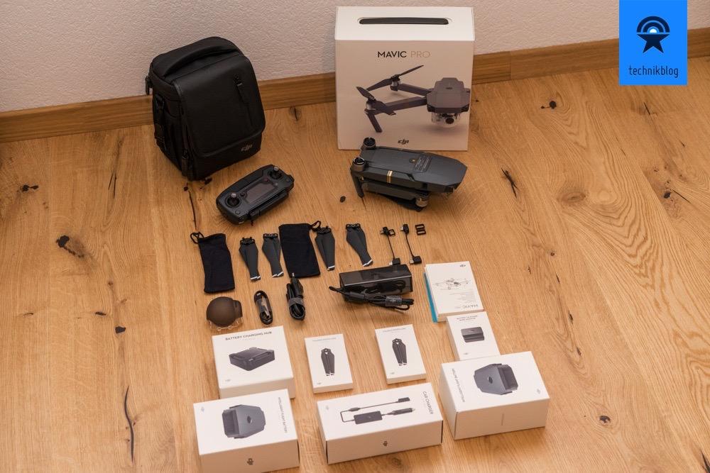 DJI Mavic Pro Fly More Paket: Lieferumfang