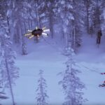 Snowboarden mit riesiger Drohne: Human Flying Drone