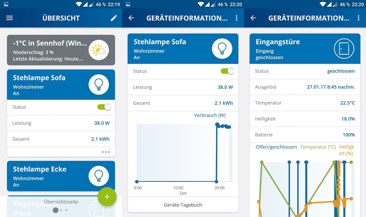 Devolo App Screenshots - Geräteinformationen
