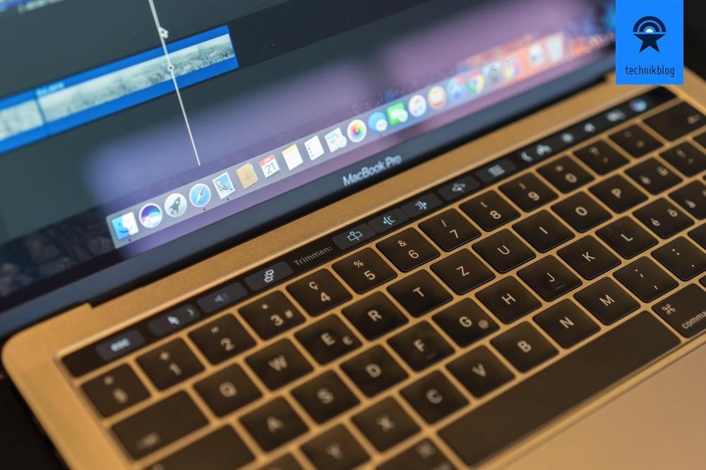 MacBook Pro Touch Bar bei FCPX