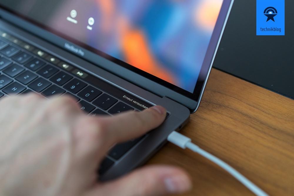 MacBook Pro mit Touch ID entsperren