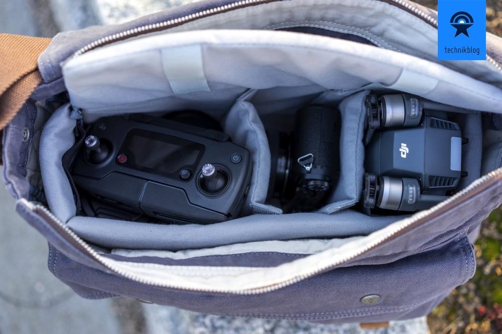 Der Foto-Pouch ist perfekt für die DJI Mavic Pro und Panasonic GX80