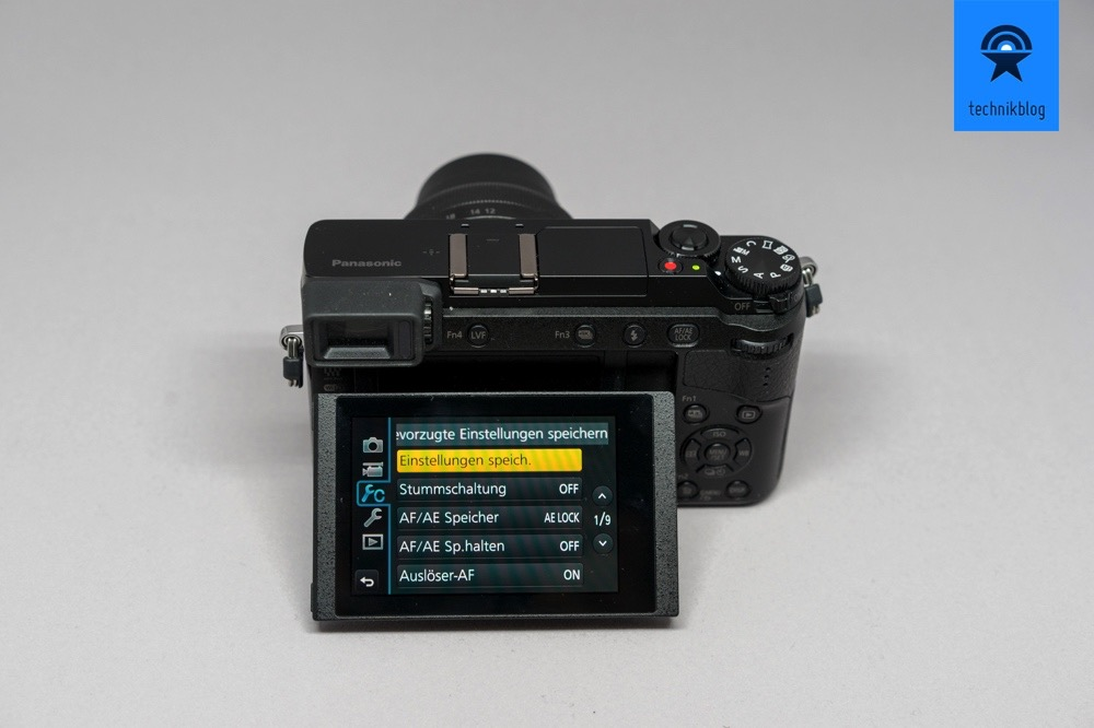 Panasonic GX80 mit Touchscreen