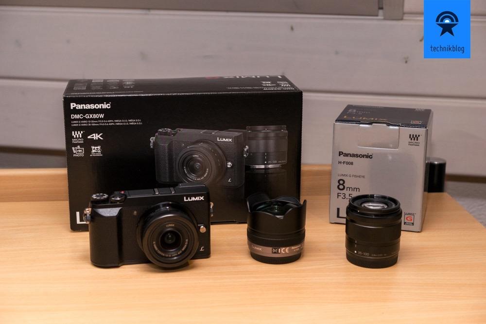 Panasonic GX80 Kit und Fisheye Objektiv