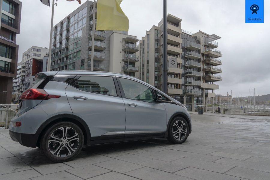 Da steht mein Testwagen: Opel Ampera-e