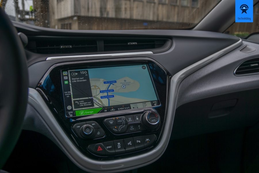 Navigation mit Apple Maps über Apple Carplay im Opel Ampera-e