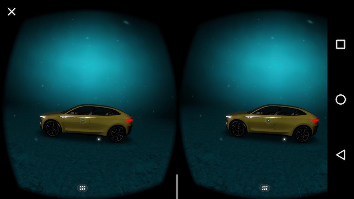 Screenshot aus der Skoda Vision E Präsentation in der VR-App
