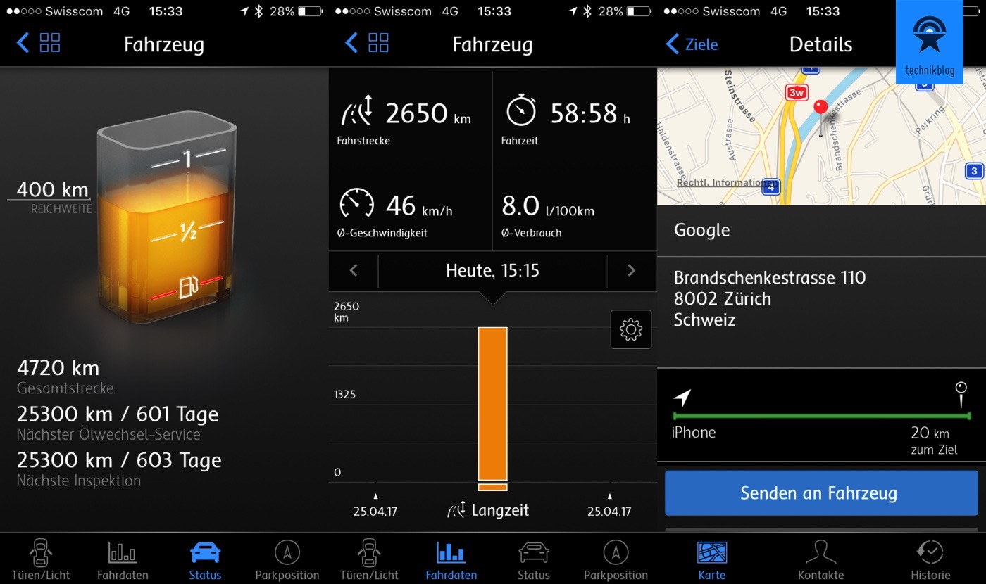 VW Car-Net - Fahrzeugdaten aufs Handy holen