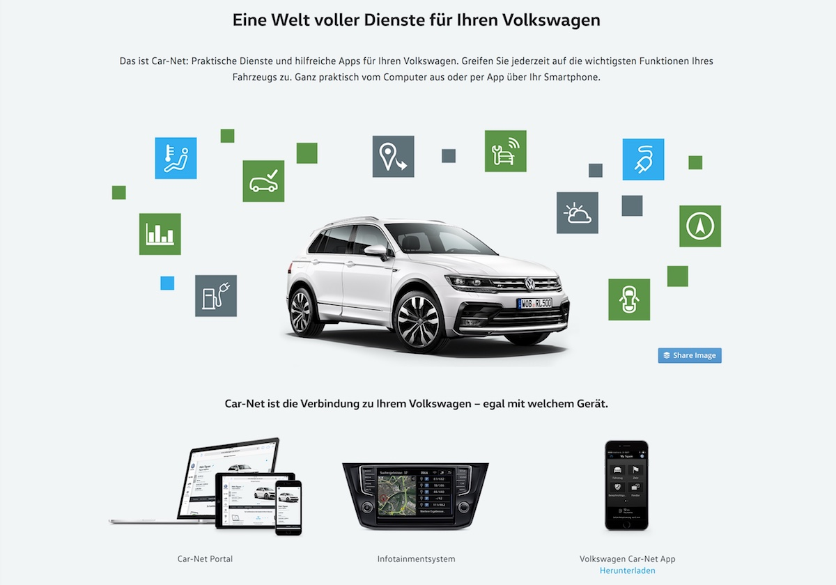 VW Car-Net im neuen Tiguan getestet: Auto und Smartphone immer verbunden