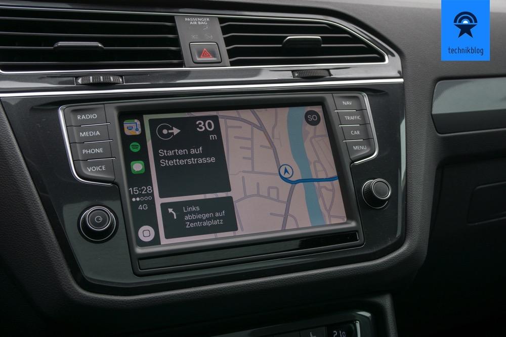 Navigation mit Apple Carplay im Tiguan
