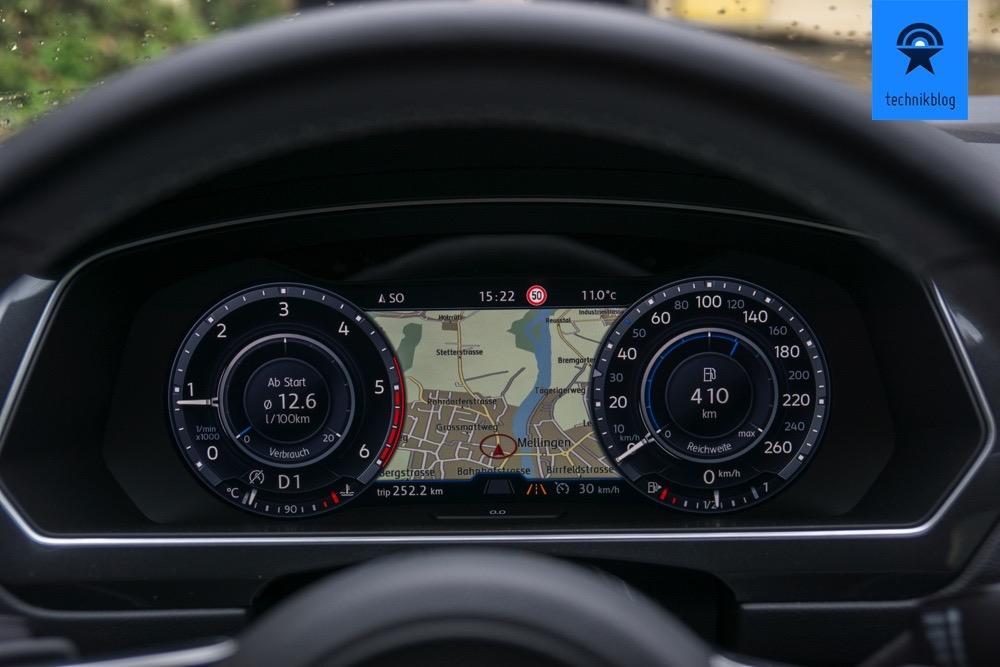 Tachometer 2.0 im VW Tiguan
