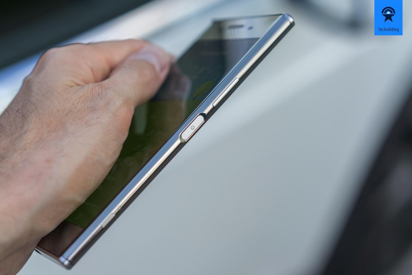 Sony Xperia XZ Premium: Fingerprint-reader im seitlichen Taster