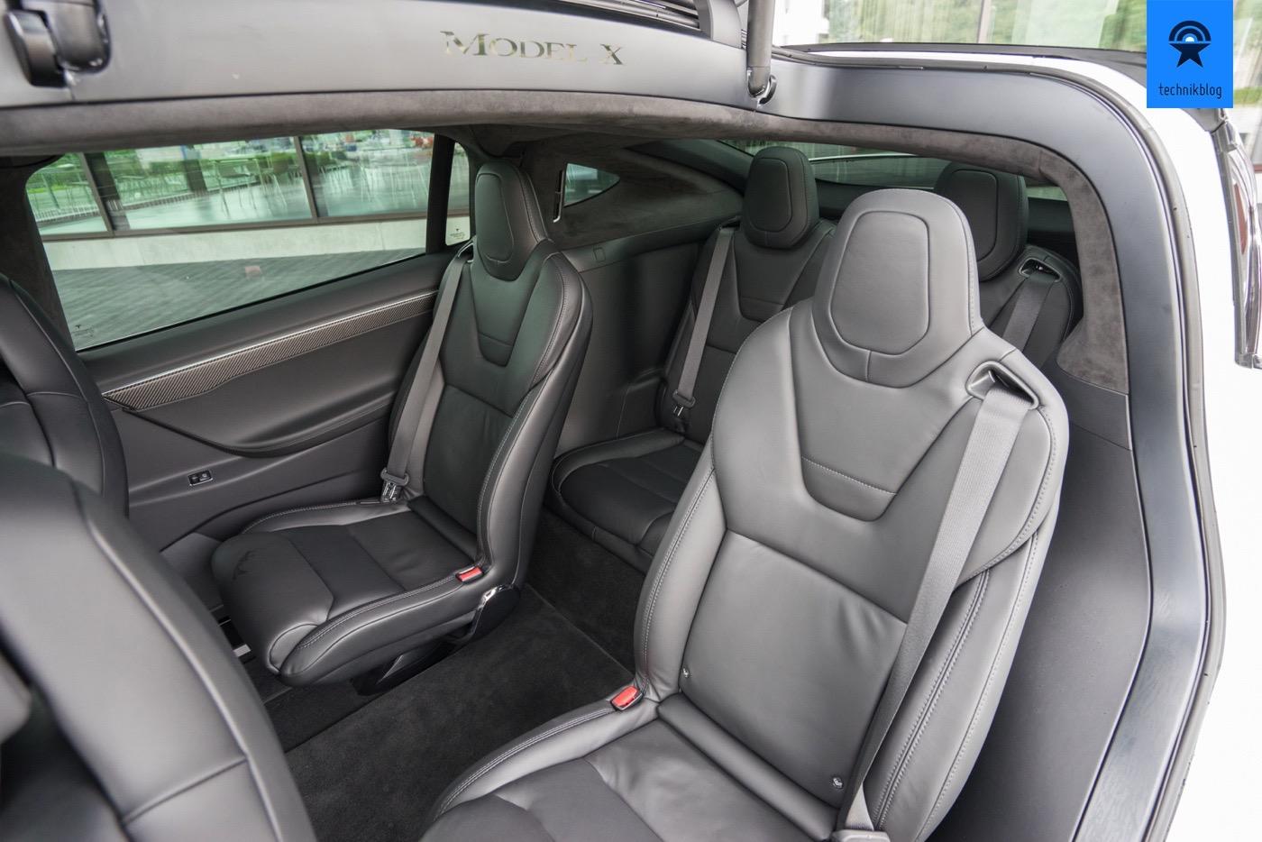 Tesla Model X P100D als 6 Plätzer