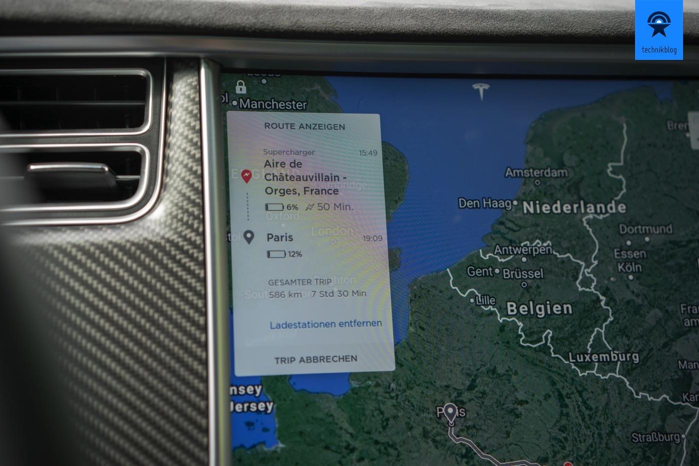 Navigation mit dem Tesla
