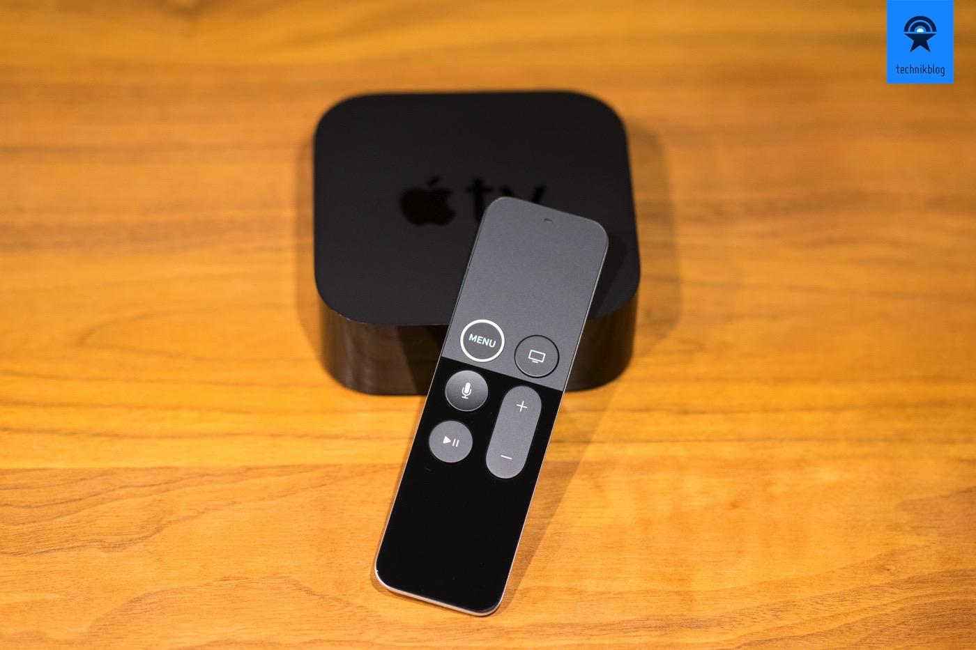 Apple TV 4K Remote - ein weisser Rand um den Menü-Button lässt sie vom Vorgängermodell unterscheiden.