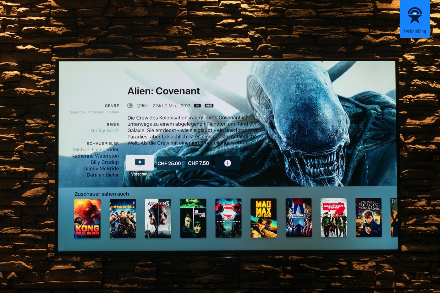 Apple TV Angebot an 4K Filmen