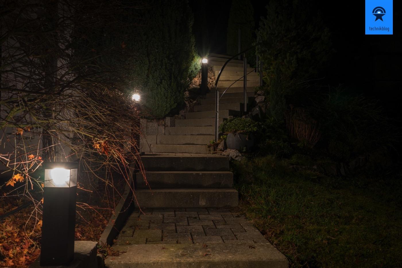 LED Aussenlampen von Philips im Einsatz