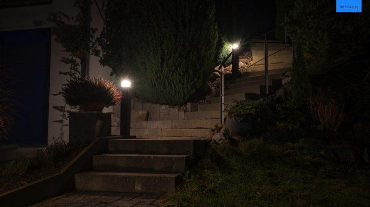 Aussenbeleuchtung mit LED Lampen realisiert