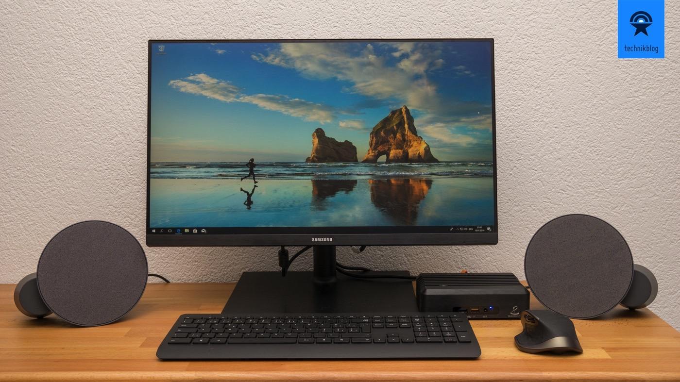 Testsetup: PrimeMini 3, Samsung Screen, Logitech MX Sound und MX Master Maus