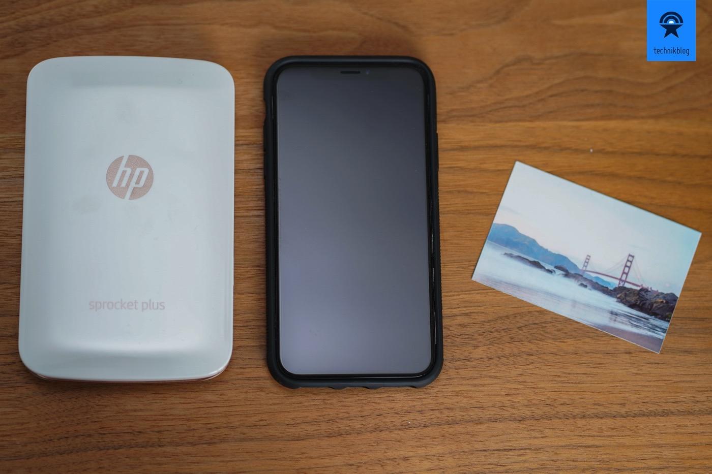 HP Sprocket Plus Grössenvergleich