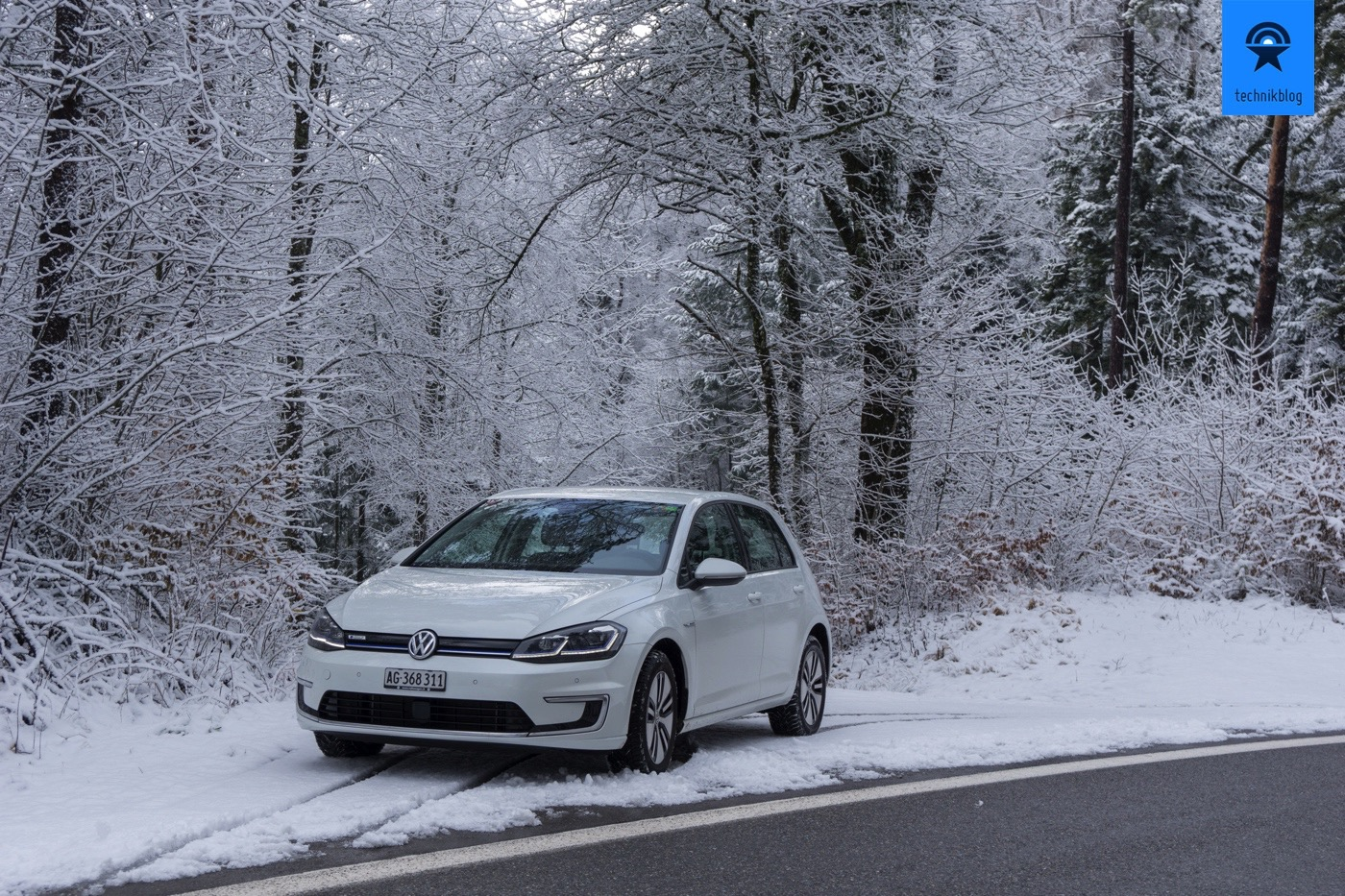 VW e-Golf im Winter