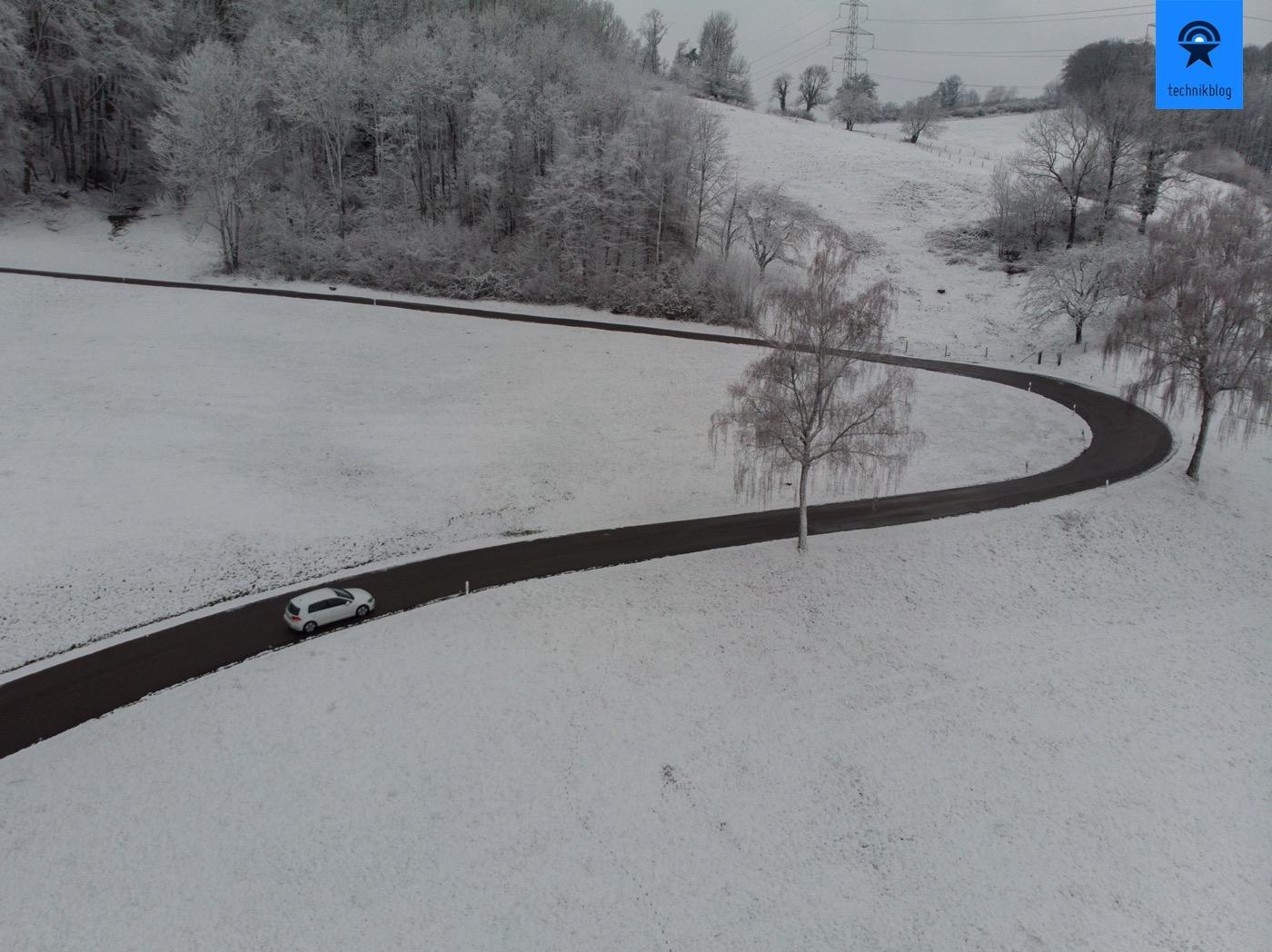 Passfahrt mit dem VW e-Golf im Winter