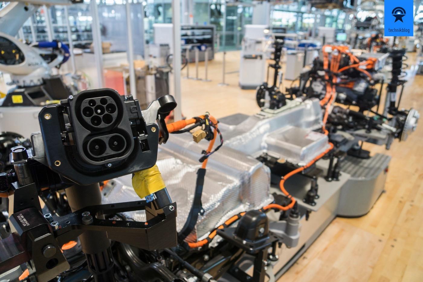 Die Basis des VW e-Golf, einmal ohne Karosse