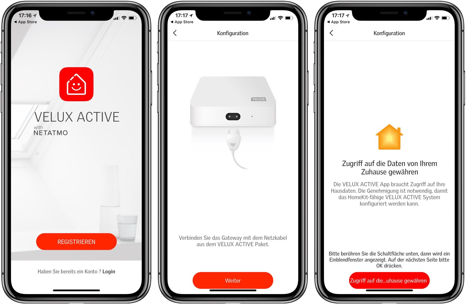 Einrichtung Velux Active Gateway