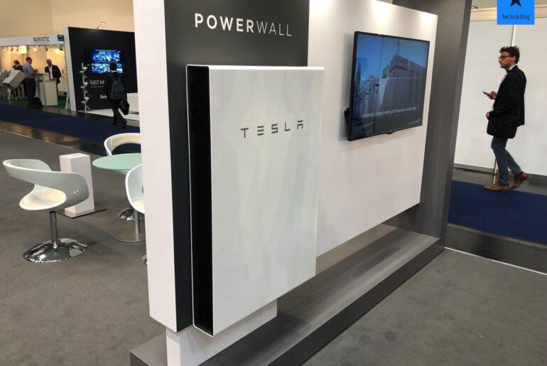 Tesla Powerwall an der Intersolar 2018