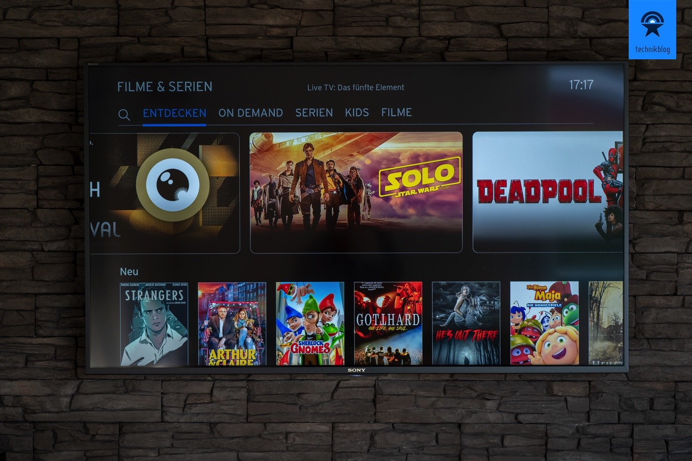 Filme & Serien: On-Demand Service der UPC TV Box