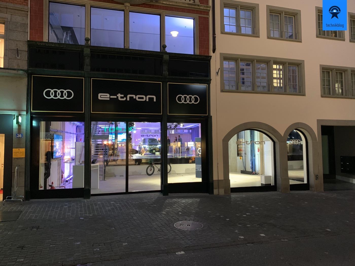 Audi e-Tron Pop-Up Store in Zürich