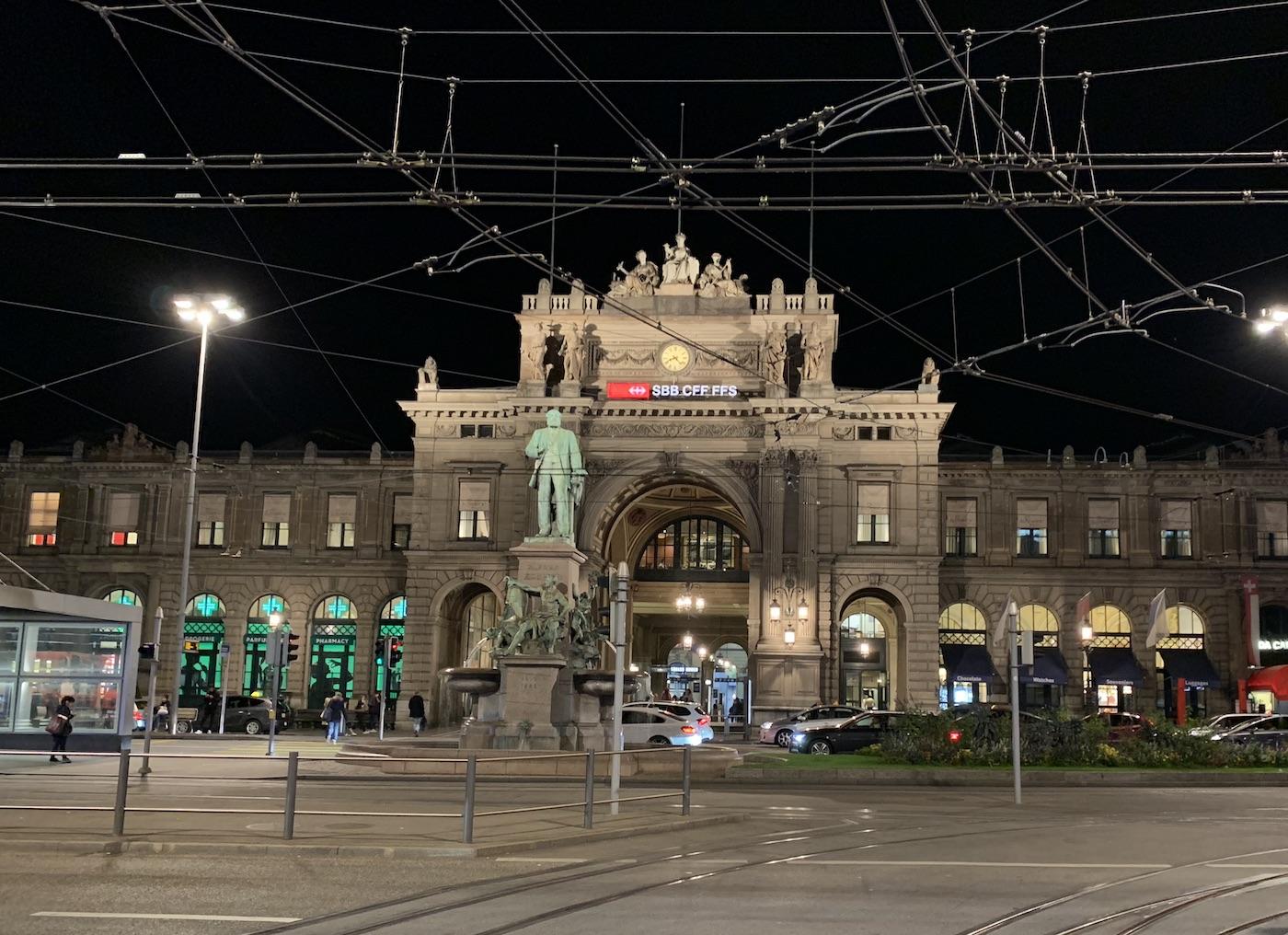 Bahnhof Zürich Aufnahme mit iPhone Xs