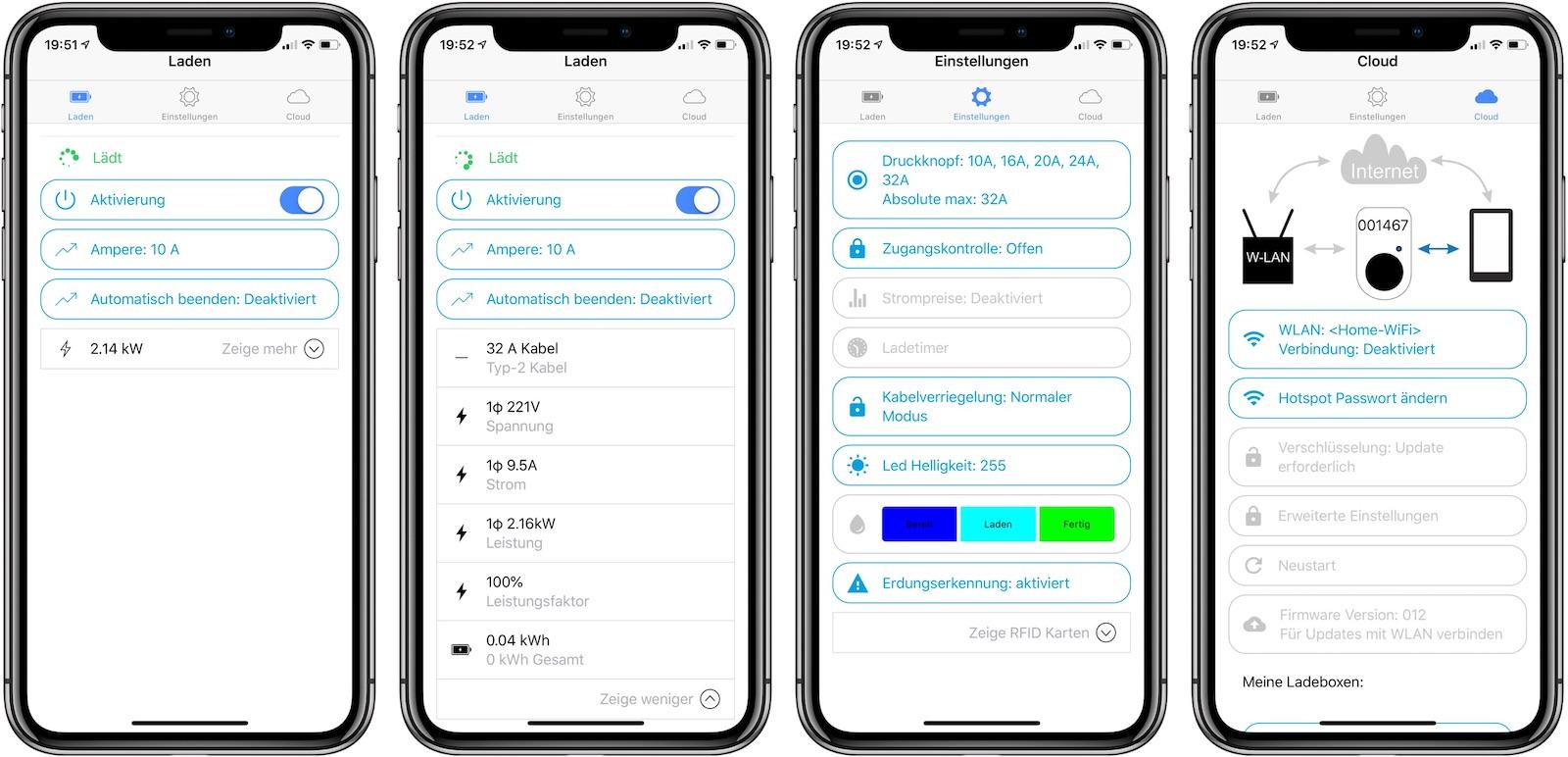 go-eCharger App und Einstellungen
