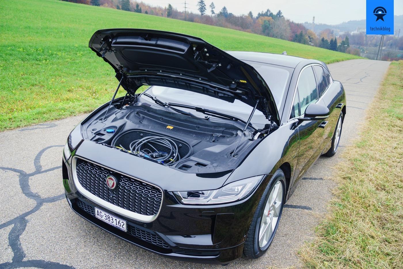 Jaguar I-Pace Kofferraum vorne - ideal für Ladekabel