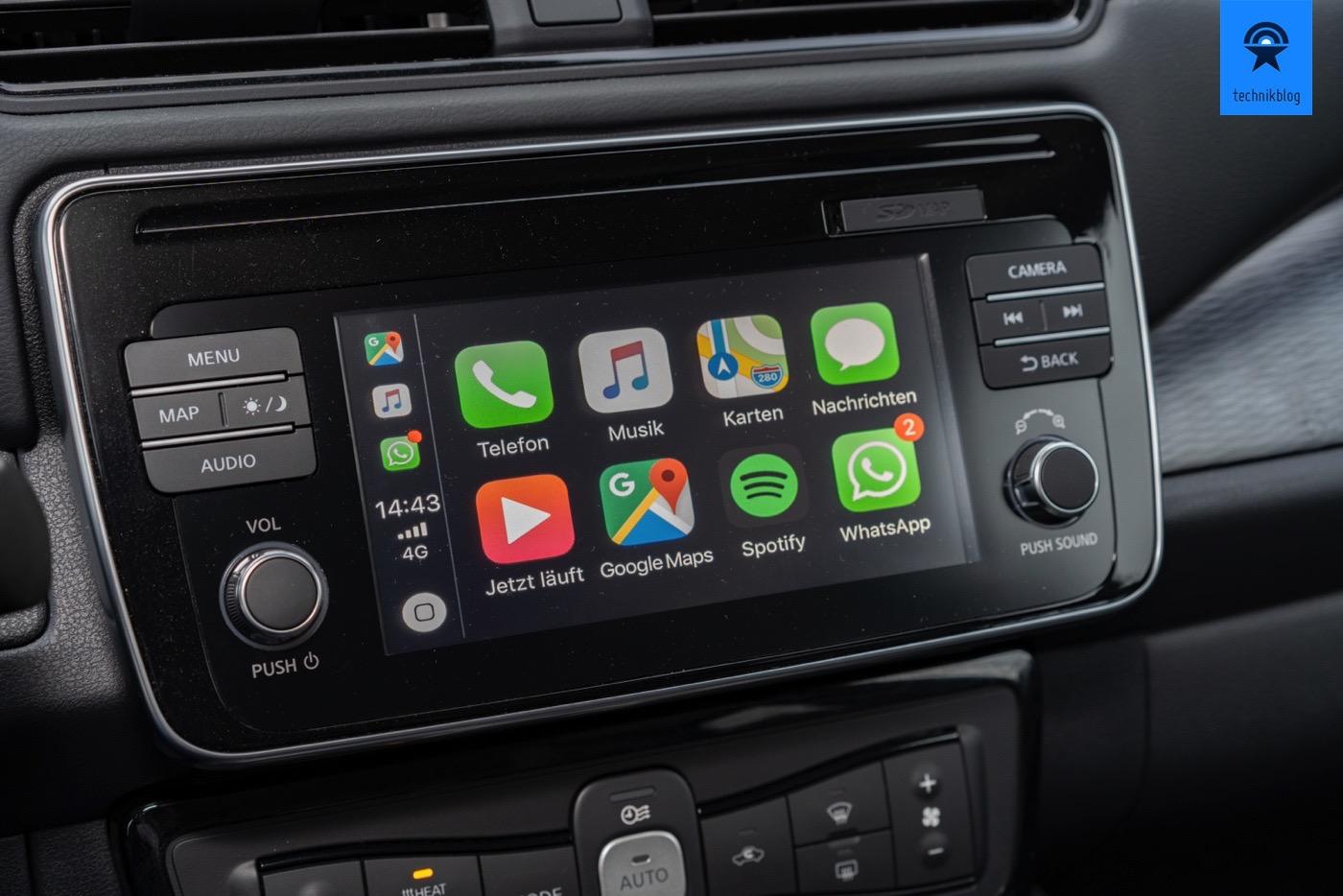 Apple Carplay im Nissan Leaf II