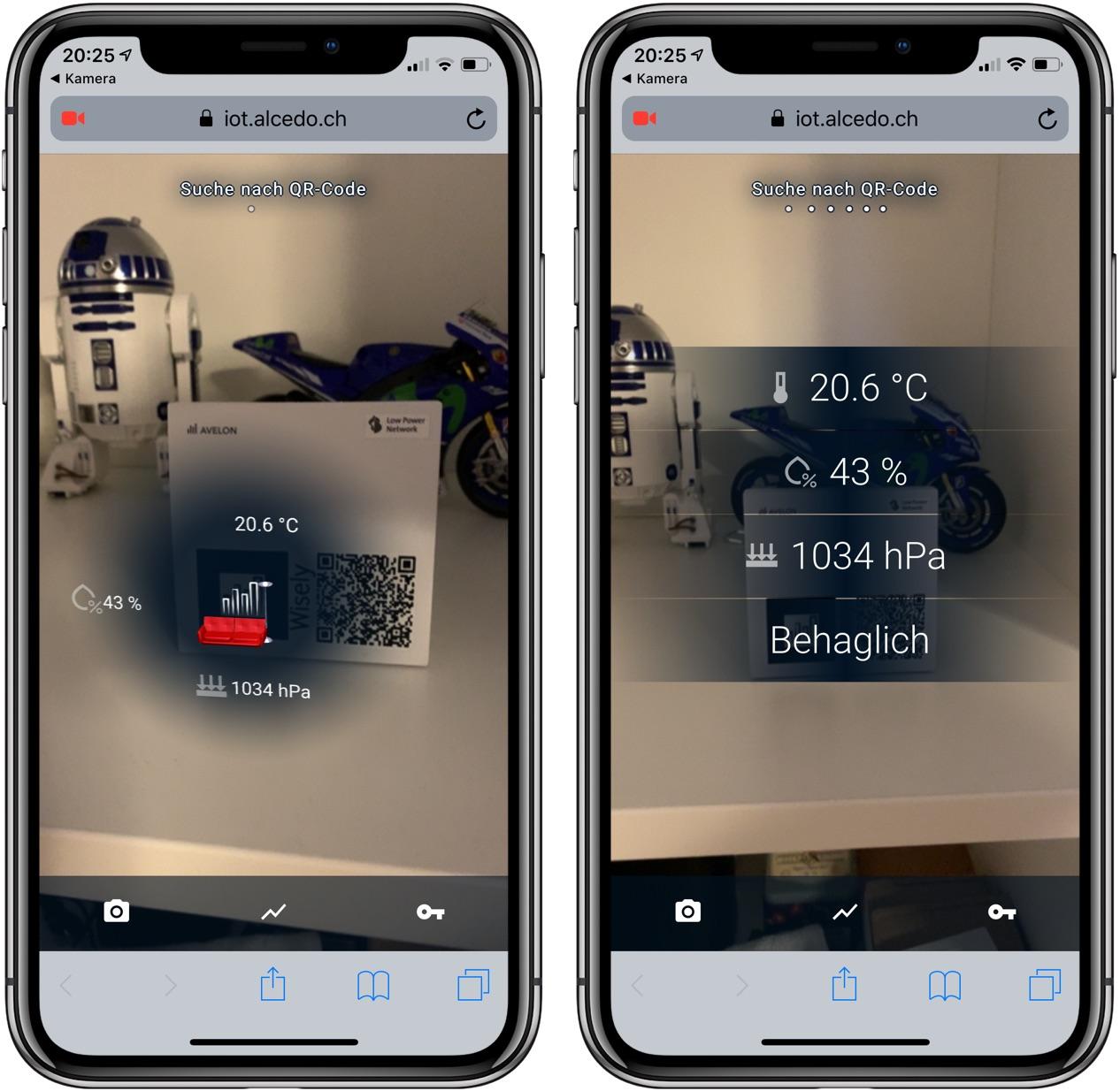 Datenerfassung mit Wisely über Augmented Reality